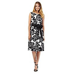 The Collection - Black floral print prom dress