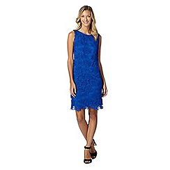 The Collection - Royal blue floral lace mesh dress