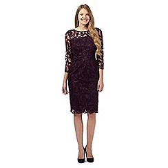 The Collection - Dark purple lace dress