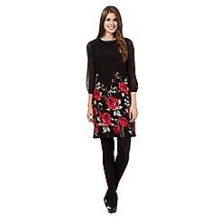 The Collection - Black rose print dress