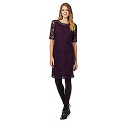 The Collection - Dark purple lace shift dress