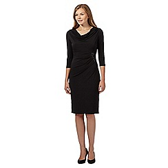 The Collection - Black ruched sequin cowl dress