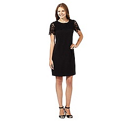 The Collection - Black lace yoke and sleeve shift dress