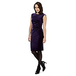 The Collection - Purple velvet gathered detail dress