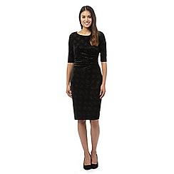 The Collection - Black velvet sparkle dress