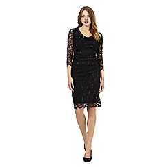 The Collection Petite - Black lace sequinned dress