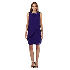 The Collection - Purple necklace detail layered dress