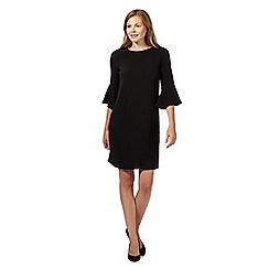 The Collection - Black crepe flute dress