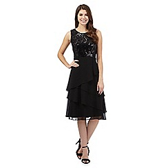 The Collection - Black sequinned chiffon layered dress