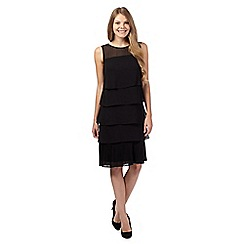 The Collection - Black plisse pleated layered dress