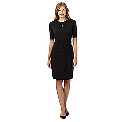 The Collection - Black gathered buckle dress