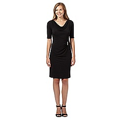The Collection - Black buckle cowl dress