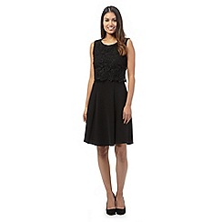 The Collection - Black lace flare dress