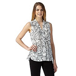 The Collection - Ivory floral sleeveless top
