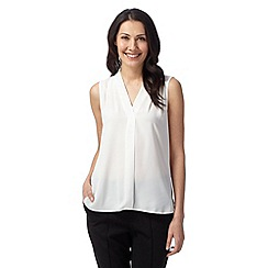 The Collection Petite - Petite ivory sleeveless plain top