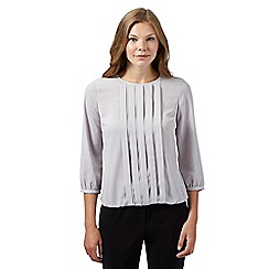 The Collection - Grey pleat front bubble top