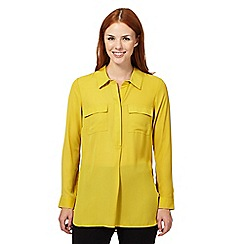 The Collection Petite - Lime pocket crepe shirt