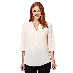 The Collection - Pale pink notch neck top