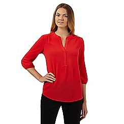 The Collection Petite - Coral notch neck top