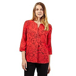 The Collection Petite - Petite coral outline floral print top