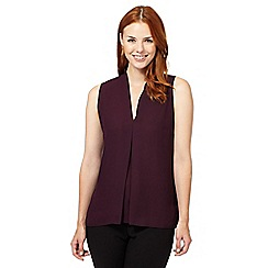 The Collection - Wine soft pleated sleeveless top