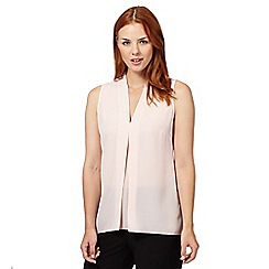 The Collection Petite - Pink soft pleat sleeveless top