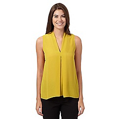 The Collection - Lime pleated V-neck tunic