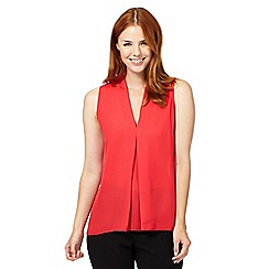 The Collection - Coral soft pleat sleeveless top