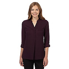 The Collection - Dark purple collarless utility shirt
