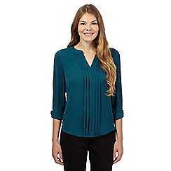The Collection - Dark turquoise pleated top