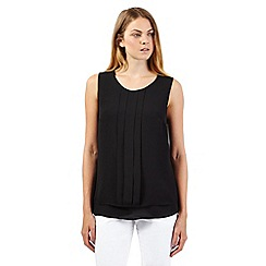 The Collection - Black layered pleat top
