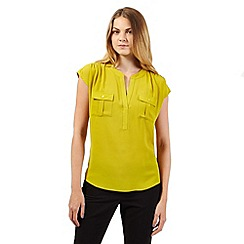 The Collection - Lime sleeveless grandad top