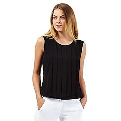The Collection - Black sleeveless pleat front top
