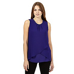 The Collection - Purple jewelled neckline top