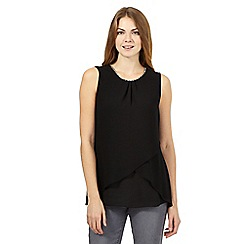 The Collection - Black sleeveless diamante top