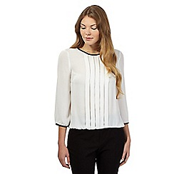 The Collection - Ivory pleated bubble hem top