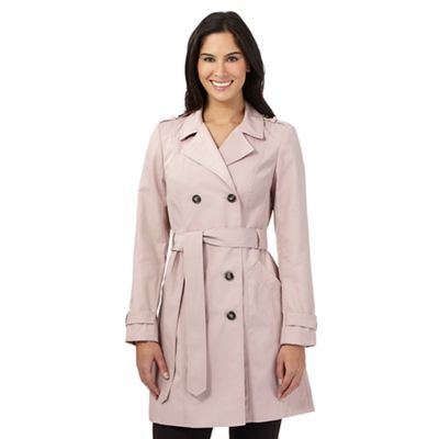 The Collection Pale pink double breasted mac coat