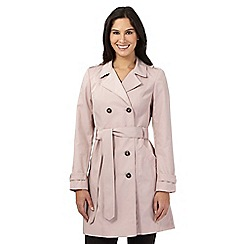 The Collection - Pale pink double breasted mac coat