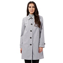 The Collection - Light grey cocoon mac coat