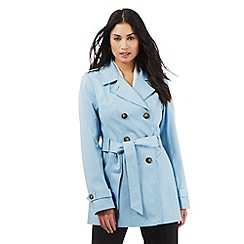 The Collection Petite - Light blue mac jacket