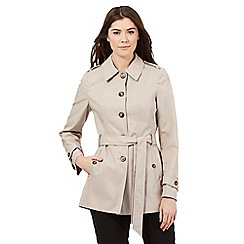 The Collection - Beige buttoned mac coat