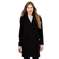 The Collection - Black oversized wool blend coat