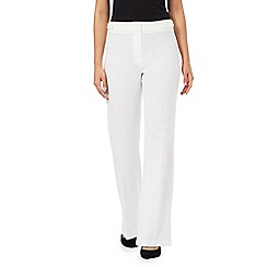 The Collection Petite - Ivory bootcut trousers