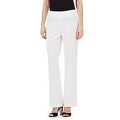 The Collection Petite - White straight formal trousers