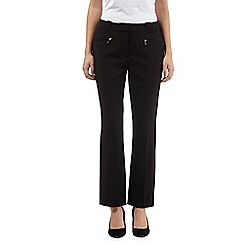 The Collection - Black slim leg zip pocket trousers