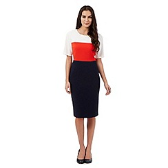 The Collection - Navy colour block dress