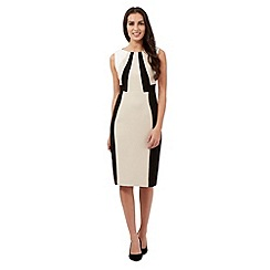 The Collection - Beige colour block dress