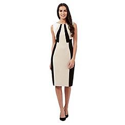 The Collection - Beige colour block dress