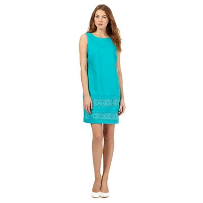 The Collection Turquoise lace insert shift dress