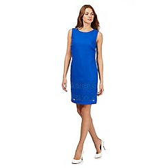 The Collection - Bright blue lace insert shift dress